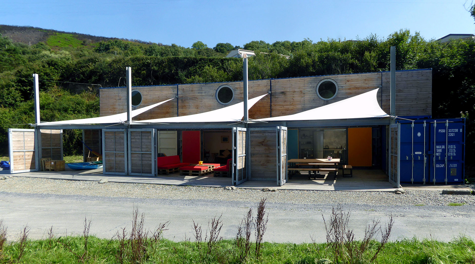 Ty Cwch Boathouse<br />Affordable accommodation<br />Just £120 per pod (sleeps 4)